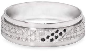 Black Diamond MODERN BRIDE Mens 5MM Diamond Accent Genuine Stainless Steel Wedding Band