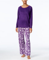 Charter Club Textured Fleece Pajama Set, Only at Macy's