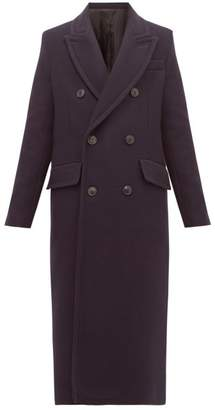 Ami Double Breasted Virgin Wool Blend Coat - Womens - Navy