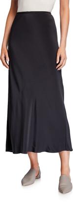 Eileen Fisher Silk Double Crepe Bias Skirt