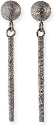 Carolina Bucci 18k Gold Small Sparkly Stick Earrings