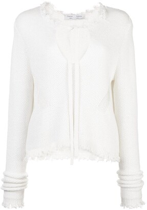 Proenza Schouler White Label Frayed Edges Knitted Top