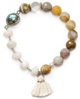 Chan Luu White Agate Stretch Bracelet