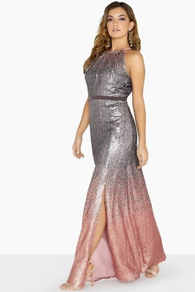 Little Mistress Tina Ombre Sequin Maxi Dress