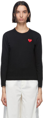 Comme des Garcons Black Heart Patch Long Sleeve T-Shirt