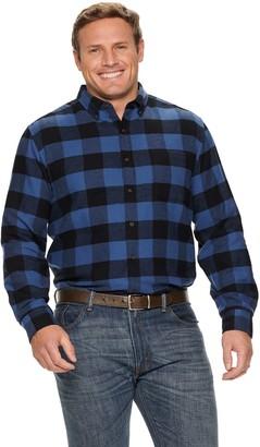 Croft & Barrow Big & Tall Extra-Soft Flannel Button-Down Shirt