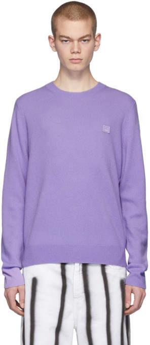 Acne Studios Purple Face Sweater
