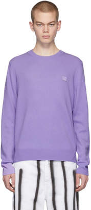 Acne Studios Purple Face Sweater