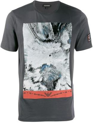 Emporio Armani contrast print T-shirt