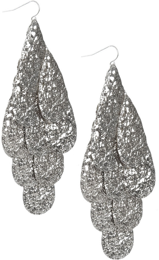 Arden B Hammered Waterfall Earring