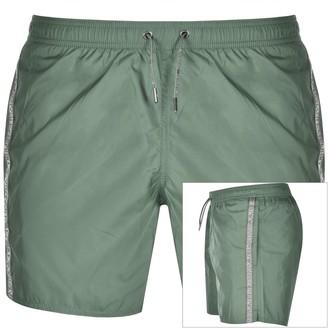 Giorgio Armani Emporio Logo Swim Shorts Green
