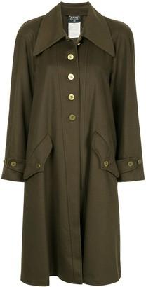 Chanel Pre Owned Cashmere Midi Coat