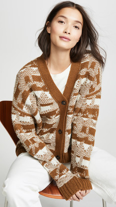 Closed Patterned Cardigan