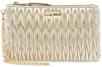 Miu Miu Matelasse leather pouch