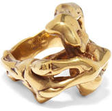 Tom Ford Gold-tone Embellished Ring - L