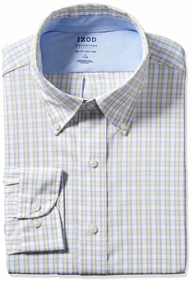 Izod Men's FIT Dress Shirt Stretch FX Cooling Collar Check (Big and Tall)