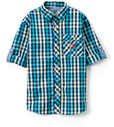 U.S. Polo Assn. Classic Navy Roll-Up Woven Button-Up - Toddler & Boys