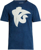 Blue Blue Japan Crane-print cotton-jersey T-shirt