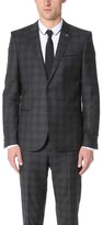 The Kooples Check Suit Jacket