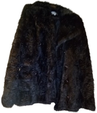 McQ Black Faux fur Coat for Women