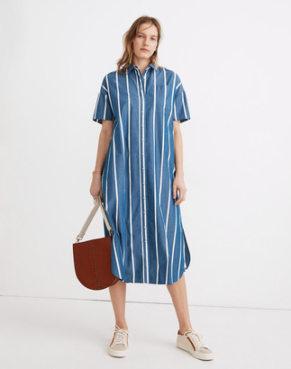 Madewell Oversized Midi Shirtdress in Stripe