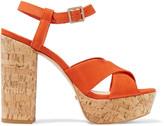Schutz Babalina nubuck platform sandals