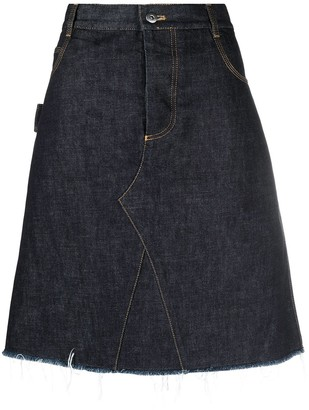 Bottega Veneta A-line mid-length skirt