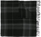 Polo Ralph Lauren plaid scarf with frayed edges