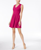 Monteau Petite Pleated Fit & Flare Dress, A Macy's Exclusive