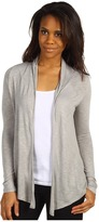 Calvin Klein Jeans Rouched Back Open Knit Cardi (Platinum Ice) - Apparel