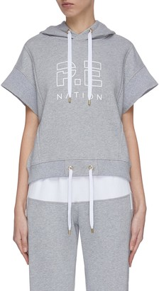 P.E Nation 'Free Formation' short sleeve hoodie