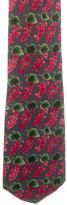 Gucci Leaf Print Silk Tie
