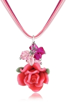 Dolci Gioie Rose Pendant w/Lace