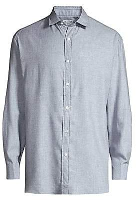 Charvet Men's Wool-Blend Shirt
