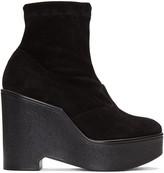 Robert Clergerie Black Suede Bilou Boots