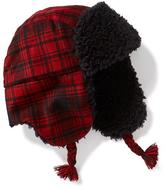 Old Navy Sherpa-Lined Buffalo-Plaid Trapper Hat for Boys
