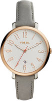 Fossil Women's Jacqueline Gray Leather Strap Watch 36mm ES4032