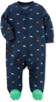 Carter's Dinosaur-Print Footed Coverall, Baby Boys