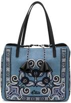 Etro Paisley Embroidered Denim Tote
