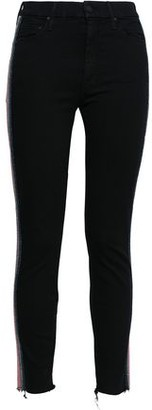 Mother Not Guilty Lame-trimmed High-rise Skinny Jeans