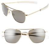 Randolph Engineering Men's 52Mm Polarized Aviator Sunglasses - 23 K Gold