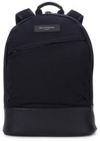 Want Les Essentiels Kastrup Navy Canvas And Leather Backpack