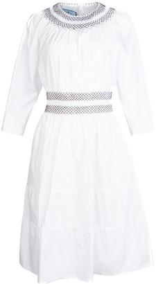 Prada Smocking Detail Flared Dress