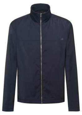 Slim-fit water-repellent jacket with reverse-logo print