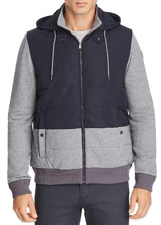 BOSS Skiles Mixed-Media Quilted Bomber Jacket