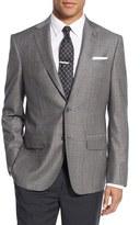 John W. Nordstrom Men's Classic Fit Windowpane Wool & Cashmere Sport Coat