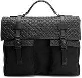 Versace greek key emboss briefcase