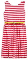 Blush by Us Angels Girls' Mesh Striped Jersey Dress - Sizes 7-16