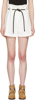 3.1 Phillip Lim White Tailored Pleated Shorts