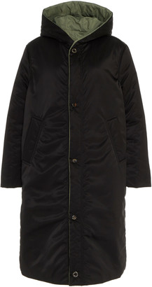 CAALO Reversible Hooded Satin Down Coat